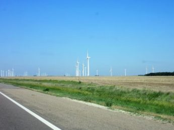 Rows and miles of turbines