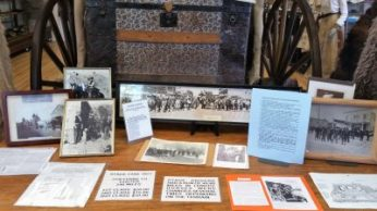 An old trunk and memorabilia