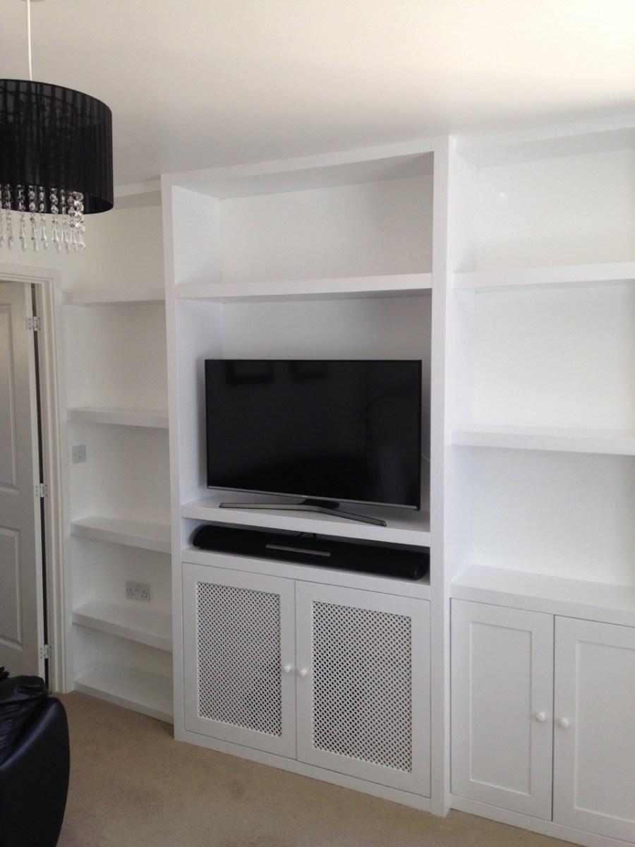 White painted bespoke unit