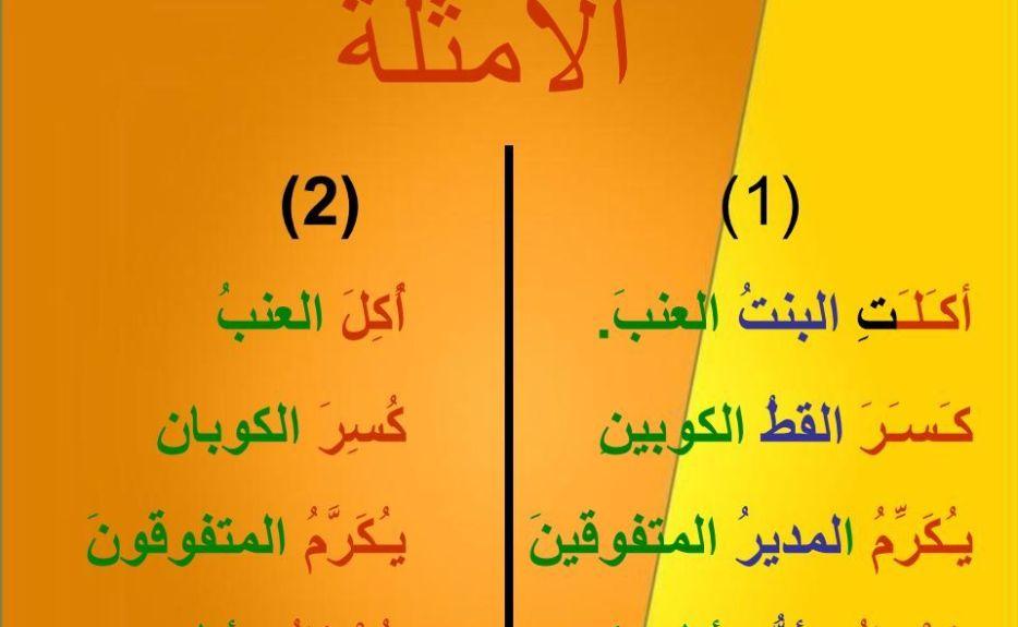 المبني للمجهول والمبني للمعلوم في اللغة العربية تعريف إعراب أمثلة واضحة أجيال بريس