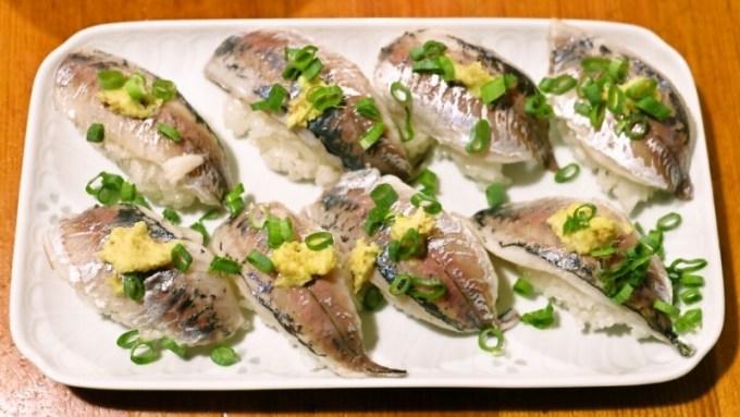 小鯵の握り寿司