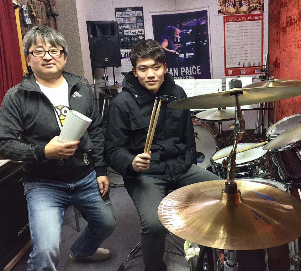 昨日はアジトでドラムDuoのリハでした