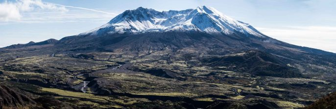 Mt St Helens, with first snow, 22Oct2016