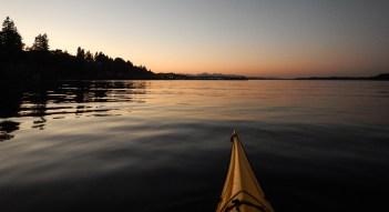 Sunset on Budd Bay, Photo by Allan J Jones