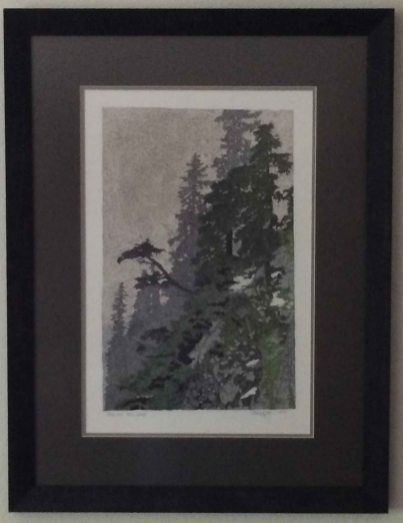 Mt Ellinor in Mist 1, Colored Pencil, Photo by Allan J Jones