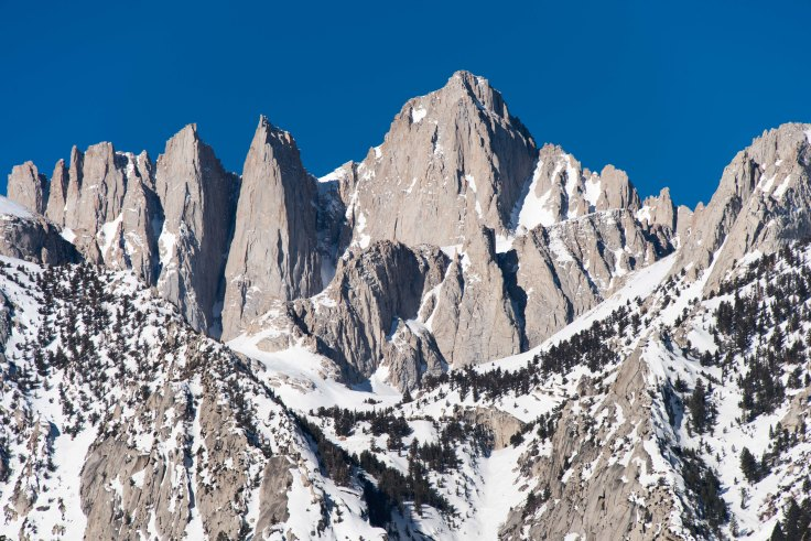 Mt Whitney from Lone Pine Campground, 14Mar2017, Photo by Allan J Jones