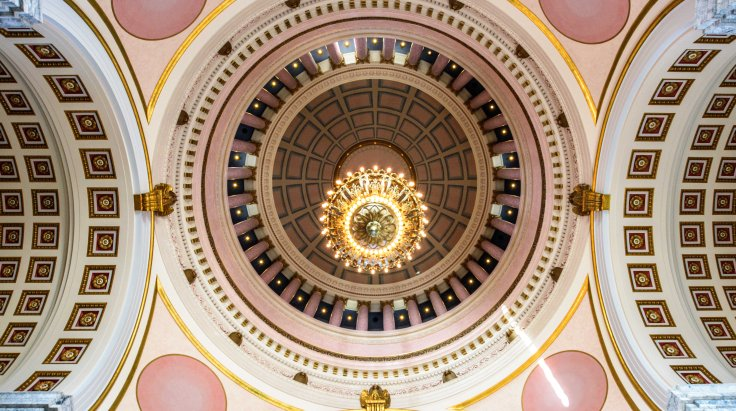 Interior of the Capitol Dome, Olympia WA