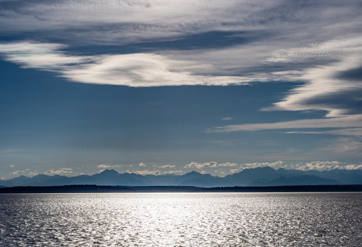 Olympic Mountains from Elliot Bay, WA, Photo by Allan J Jones