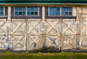 Maintenance Shed Doors by Allan J Jones Photography