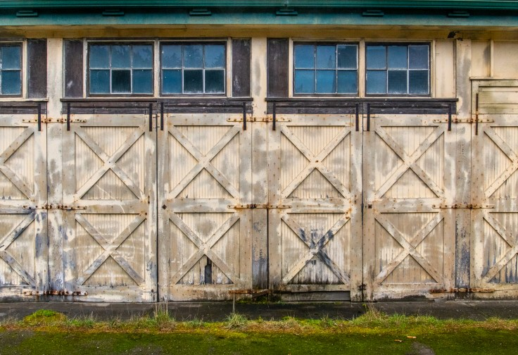 Maintenance Building Doors by Allan J Jones Photography