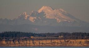 Mt Baker in Sunset by Allan J Jones Photography