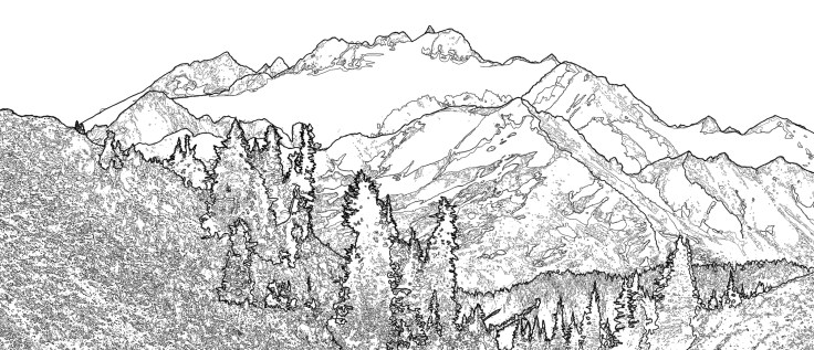 Mt Olympus from Bogachiel Pass by Allan J Jones Photography