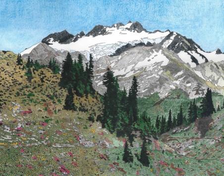 Mount Olympus from Bogachiel Pass by Allan J Jones