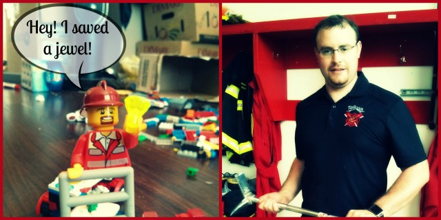 Adam real and lego