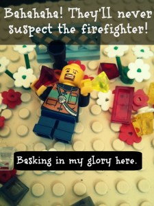 Lego firefighter robber