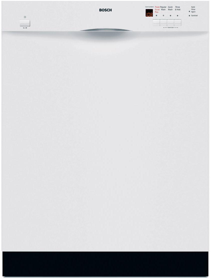 Bosch Dishwasher Top Rack : bosch, dishwasher, Bosch, SHE44C02UC, Console, Dishwasher, Cycles,, Platinum, Upper, Rack,, OPTIDRY, Silence, Rating, White