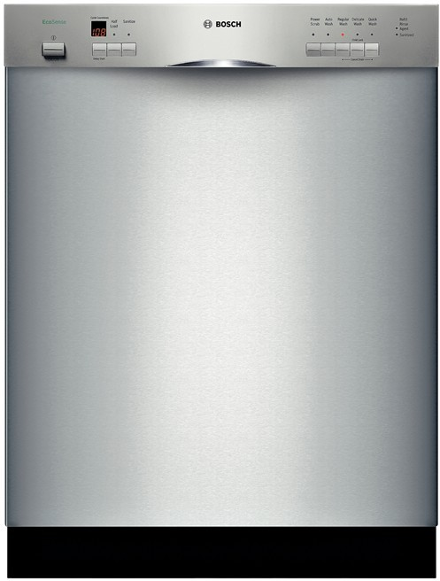 Bosch Dishwasher Silence Plus 50 Dba Manual : bosch, dishwasher, silence, manual, Bosch, SHE55P05UC, Console, Dishwasher, Cycles,, Nylon-Coated, Racks,, Hours, Delay, Start, Silence, Rating, Stainless, Steel
