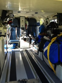 interior, BK 117 medical helicopter