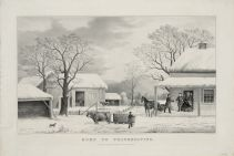 A perhaps idealized past: 'Home for Thanksgiving,' Currier and Ives lithograph/Wikimedia Commons