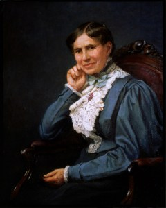 Oil painting of Clara Barton by Mathilde Leisenring, 1937.