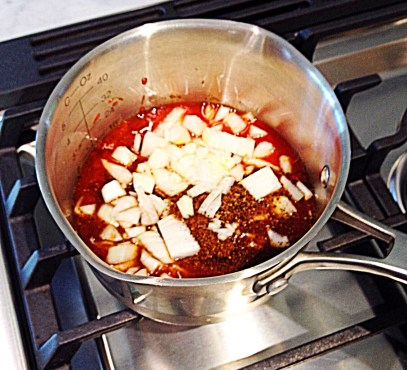 photo of cooking barbecue sauce ingredients