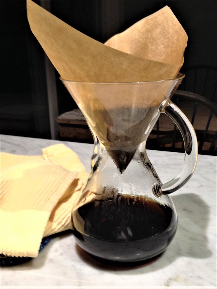 brewed pour over coffee