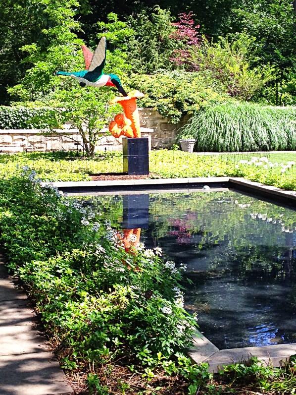 photo of hummingbird sculpture made of Legos