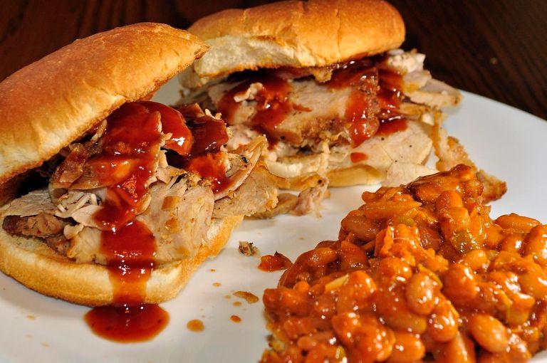 photo of pork sandwiches