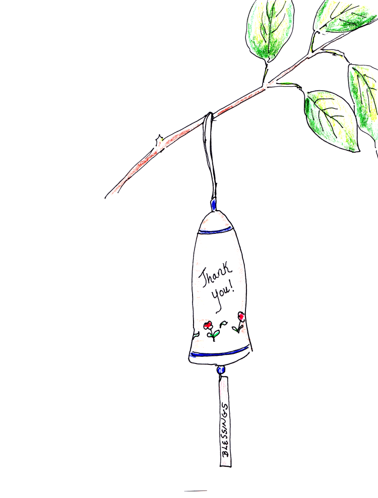 drawing of garden bell