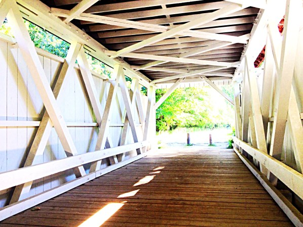 photo of interior of covered bridge