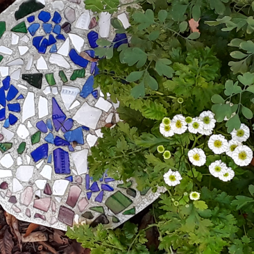 garden stepstone mosaic