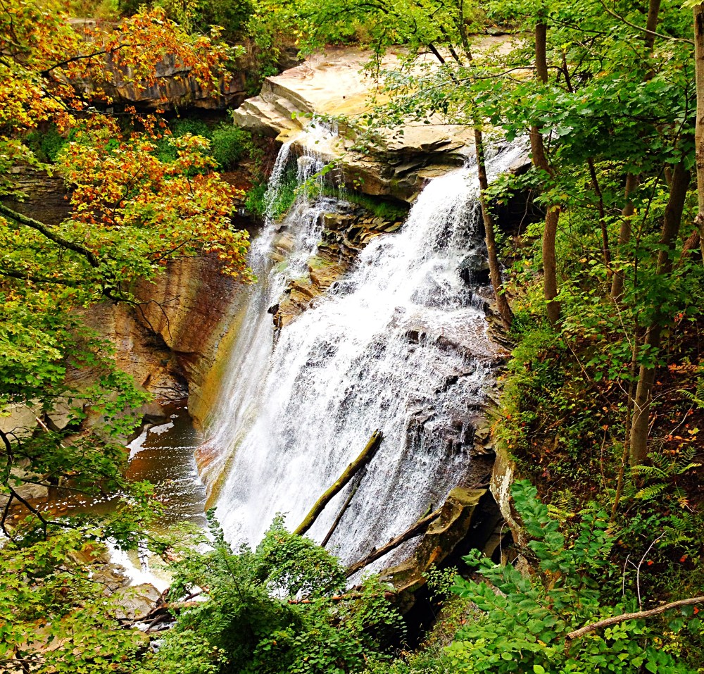 A view of Brandywine Falls from the top.