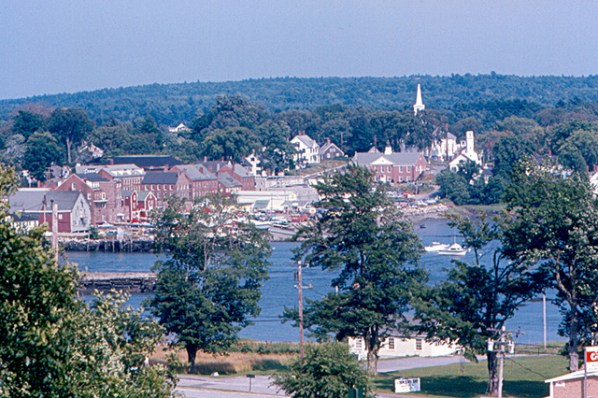 Damariscotta viewed from a hilltop outside of town.