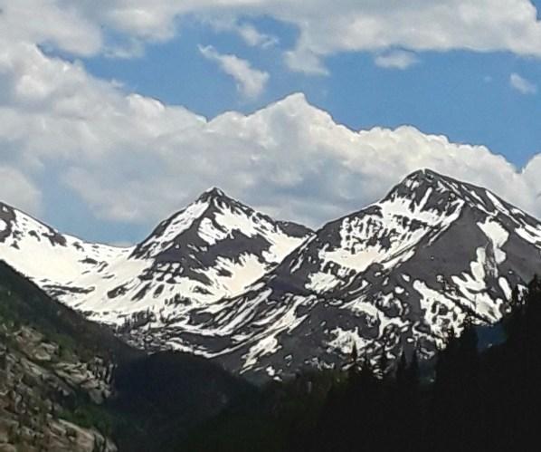Snow covered peaks above Yule Creek
