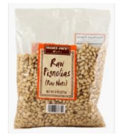 bagged pine nuts