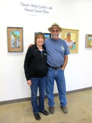Artists Terry & Claire were back in in Ajo for a brief visit. Great to see them.