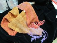 Jolene Northup, hand dyed & handwoven scarf