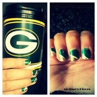 DIY: Nail Art-Green Bay Packers Inspired | Ajolisse's Pieces
