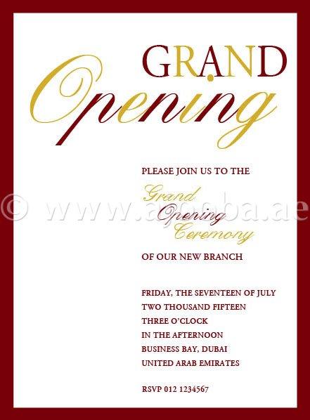 office inaugural invitation oii 7109