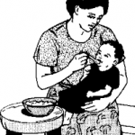 Mother Feeding a Child