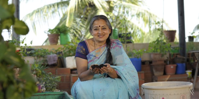 Vani Murthy with her Plants