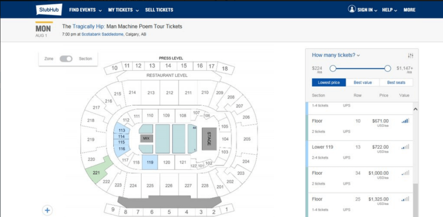Hip tickets Calgary StubHub