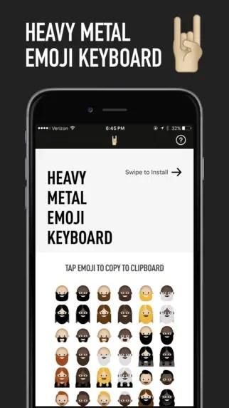 Metal Emoji keyboard