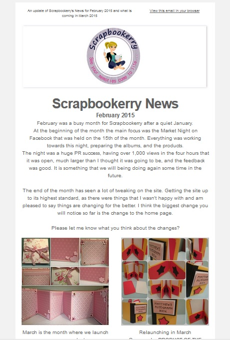 Scrapbookerry, Scrapbooking, Newsletter,