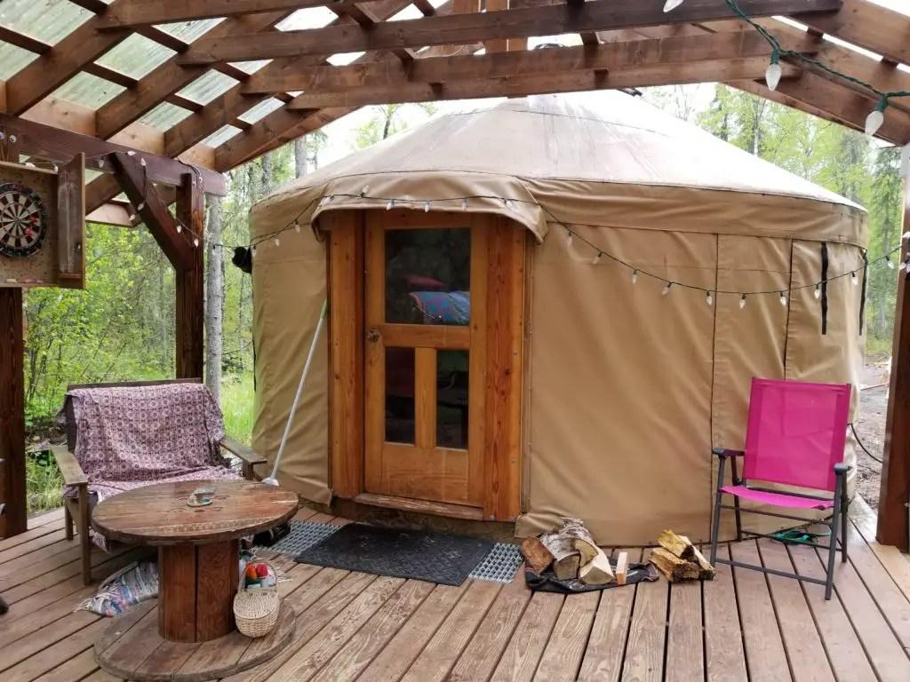 Yurt in Talkeetna, Alaska