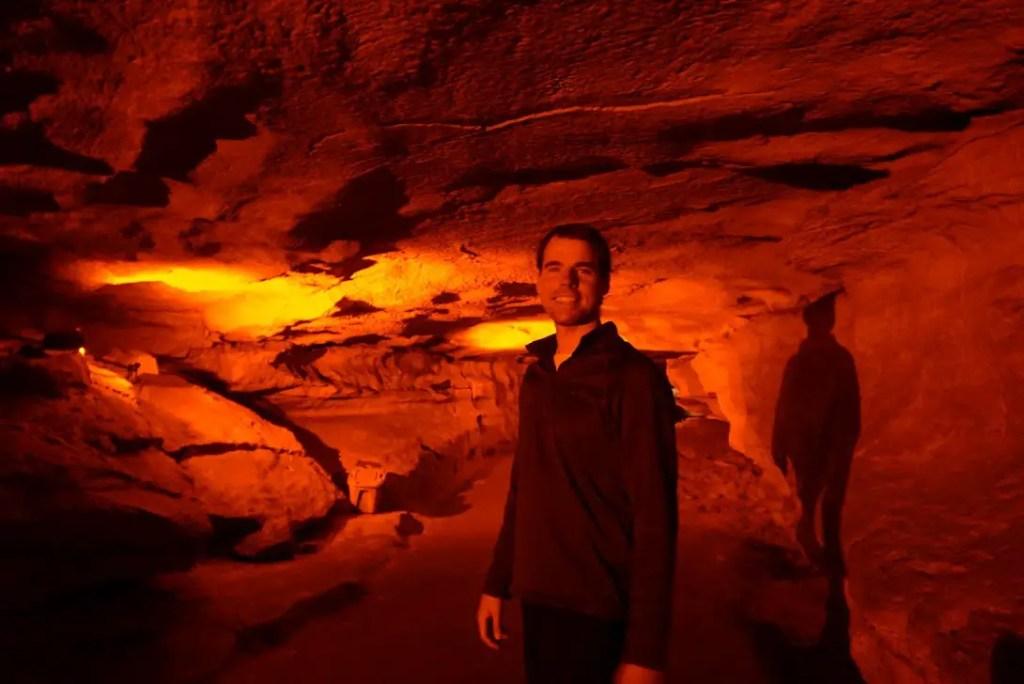 Man inside Mammoth Cave National Park