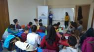 Durante las clases con los niños