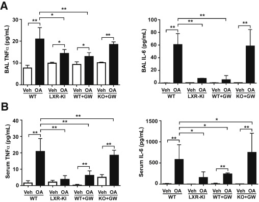 Activation of Liver X Receptor Attenuates Oleic Acid