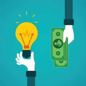 money business ideas lightbulb cash