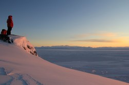 Catching a beautiful Antarctic sunset at Hut Point.